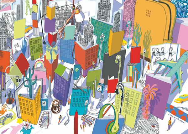 MOLESKINE presenta il progetto Color Your City realizzato in collaborazione con il designer CARLO STANGA