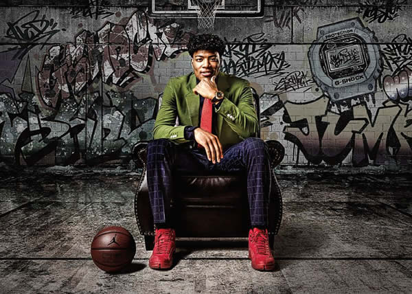 G-SHOCK presenta il collaboration model con il giocatore di basket Rui Hachimura