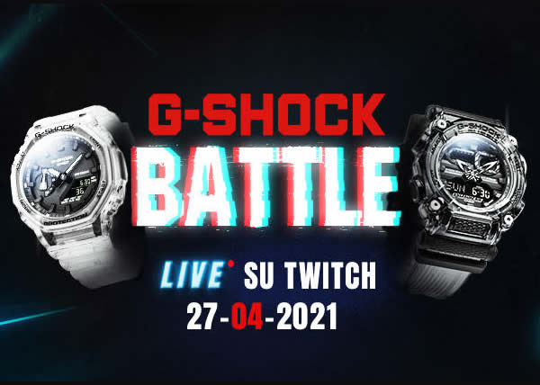 G-SHOCK presenta la sua prima 'live battle' su Twitch