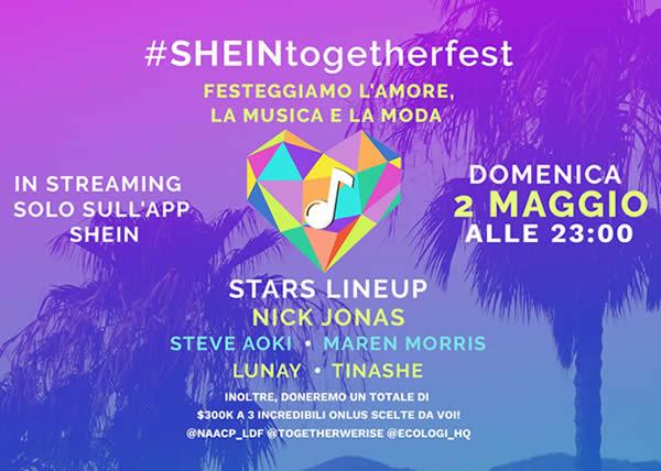SHEIN annuncia il concerto streaming con Nick Jonas, Steve Aoki e altri artisti per celebrare la campagna filantropica LightaWish