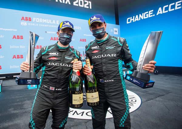 Al Roma E-Prix il primo doppio podio per Jaguar in Formula E