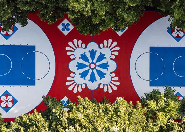 Foot Locker Europe presenta il suo nuovo campo da basket in viale Lazio 25 a Milano